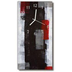 Zegar szklany pionowy sztuka abstrakcja malowidło kolorowy marki Tulup.pl