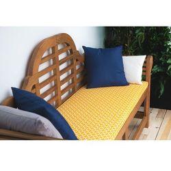 Poducha do ławki ogrodowej marlboro w żółtym wzorze 152 x 52 x 5 cm marki Beliani