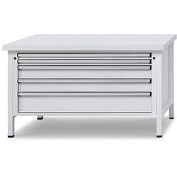 Stół warsztatowy z szufladami XL/XXL, szer. 1500 mm, 5 szuflad, blat uniwersalny