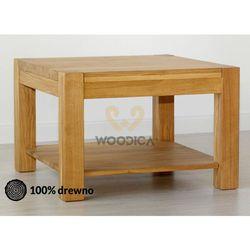 Ława dębowa 02 kwadrat marki Woodica