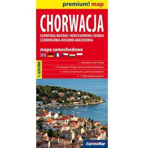 Chorwacja mapa samochodowa 1:650 000, oprawa miękka