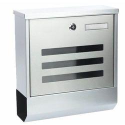 Modernhome Skrzynka pocztowa, na listy, ulotki, stalowa, gazetownik, srebrny (5903089067108)