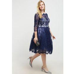 Chi Chi London Curvy DIANE Sukienka koktajlowa navy, rozmiar od 44 do 56, niebieski