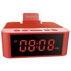 Dudao bezprzewodowy głośnik z AUX zegarek, radio FM i budzik + czytnik kart micro SD czerwony (Y5 red) -