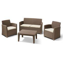 Exitodesign Zestaw mebli ogrodowych corona, sofa + 2 fotele + stolik