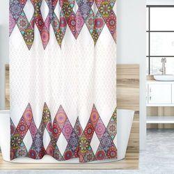 Zasłona prysznicowa Mandala różowy, 180 x 200 cm, 233045