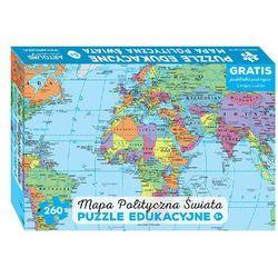 Mapa polityczna świata, puzzle edukacyjne + podkładka pod mysz z mapą świata, towar z kategorii: Mapy