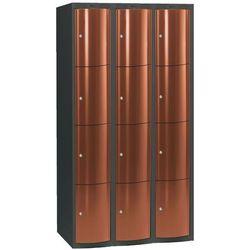 Ekskluzywne szafy osobiste 3x4 schowkim Kolor drzwi: Miedziany metalizowany - produkt z kategorii- Szafy i wit
