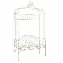 Klasyczna ławka ogrodowa heine - biała marki Producent: elior