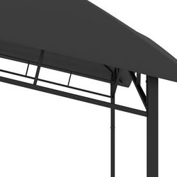 vidaXL Altana ogrodowa, 3x3x2,9 m, antracytowa, 180 g/m²