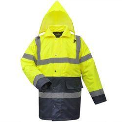vidaXL Męska kurtka odblaskowa żółto niebieska poliestrowa rozm. M - produkt z kategorii- Pozostała odzie