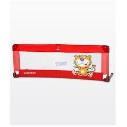 Caretero Barierka do łóżeczka dziecięcego Safari red, towar z kategorii: Zabezpieczenia do łóżeczek