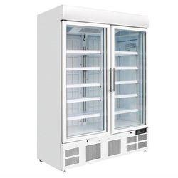 Polar refrigeration Szafa mroźnicza z podświetleniem 2-drzwiowa przeszklona | 920l | -18 do -22°c | 1370x745x(h)1990mm