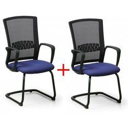 B2b partner Krzesło konferencyjne roy 1+1 gratis, niebieski
