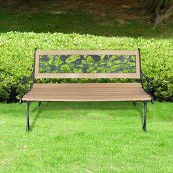 Vidaxl ławka z oparciem zdobionym w róże (8718475802471)