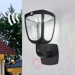 Lampenwelt.com Solarna lampa ścienna led henk z czujnikiem