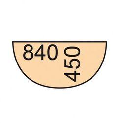 Dostawka do stołu biurowego 84 cm, biały / dąb naturalny marki B2b partner
