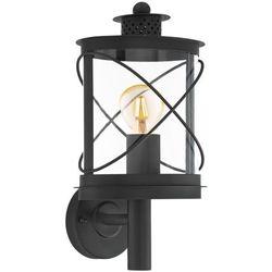 Eglo Kinkiet hilburn 94842 lampa ścienna oprawa zewnętrzna 1x60w e27 ip44 czarny (9002759948429)