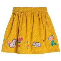 JoJo Maman Bébé MOUSE SKIRT Spódnica mini yellow (5054298169326)