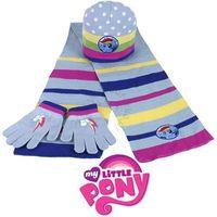 Komplet- czapka, szalik i rękawiczki my little pony marki Licencja - inne