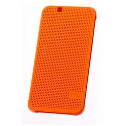 ORYGINALNE ETUI Dot View HTC HC M130 Lite Pomarańczowe do HTC Desire 510 - Pomarańczowy ()