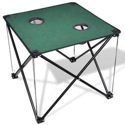 składany stół kempingowy ciemno zielony marki Vidaxl
