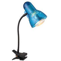 Lampka biurkowa z klipsem Globo Clip 1x40W E14 niebieski 54851