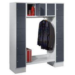 Garderoba systemowa, otwarta,wys. x szer. całk.: 1850 x 1500 mm, 13 półek marki Eugen wolf