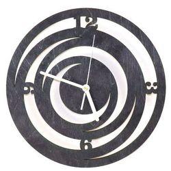 Congee.pl Drewniany zegar na ścianę spirale z białymi wskazówkami (5907509932526)