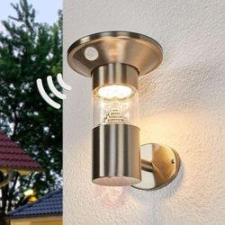 Solarna lampa ścienna LED Jalisa, czujnik (4251096542578)