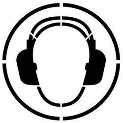 Szablon do malowania znak nakaz stosowania ochrony słuchu go003 - 15x15 cm marki Szabloneria