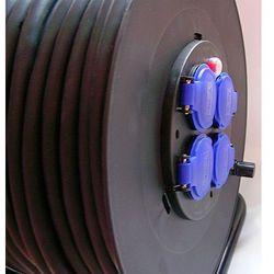 Rozgałęźnik budowlany 4+1 H07RN-F 3x2,5 50m, na bębnie - kabel gumowy