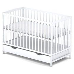 Piętrus dominik biały + szuflada łóżeczko 120x 60