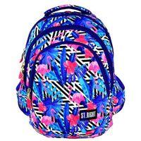 St.-majewski Plecak młodzieżowy flamingi pink&blue bp-06 st.right