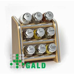 półka z przyprawami 9-el. jasne drewno połysk 5901832920892 marki Gald
