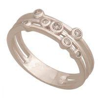 Złoty pierścionek z brylantem Dp092b
