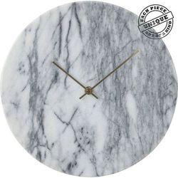 KARE Design :: Zegar ścienny Desire Marble Biały, kolor szary