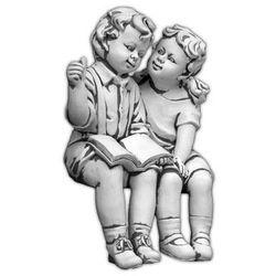 Figura ogrodowa betonowa dzieci siadające 61cm