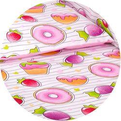 MAMO-TATO dwustronna pościel 2-el Babeczki / róż do łóżeczka 60x120cm