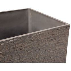 Doniczka ciemnobrązowa kwadratowa 40 x 40 x 81 cm GAZA (4260586357103)