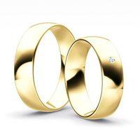 Obrączki goldendreams Klasyczne obrączki półokrągłe z brylantem model z36p2 (komplet)