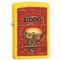 Zippo Zapalniczka  funky skull with bones, lemon matte