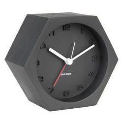 :: budzik hexagon concrete czarny - czarny marki Karlsson