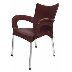 krzesło dolce mp463, burgundowe marki Mega plast