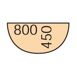 B2b partner Dostawka do stołu biurowego 80 cm, czereśnia