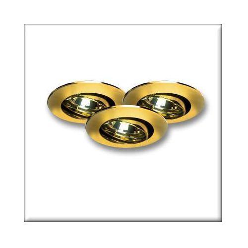 Oprawy wbudowywane ZN-AL, wychylne, złote, 35mm, 3x35W, Paulmann