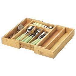 Pojemnik na sztućce ZELLER do szuflady z drewna bambusowego DARMOWY TRANSPORT