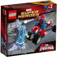 76014 trójkołowiec pająka vs electro (spider-trike vs. electro) - klocki  super heroes marki Lego