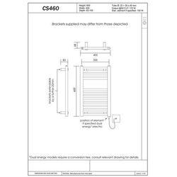 Thomson heating Grzejnik łazienkowy york v - wykończenie proste, 400x600, biały/ral