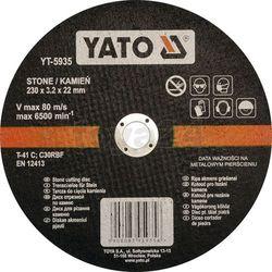 Tarcza do cięcia kamienia 230x3,2x22 mm / YT-5935 / YATO - ZYSKAJ RABAT 30 ZŁ (5906083959356)